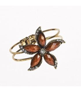 Браслет - дизайн цветок лотоса - украшенные камнями - различные цвета