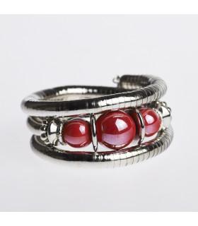 Bracelete de prata espiral - várias cores