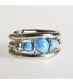 Silver spiral bracelet - various colors