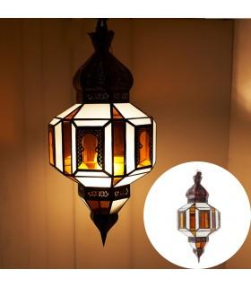 Lampe Bögen - Orange und weiße Kristalle - hohe Qualität 70 cm