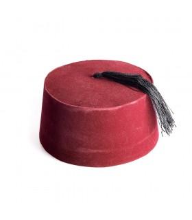 Gorro Arabe Fez Rojo Flecos - Gorro Marroquí - Gorro Moro