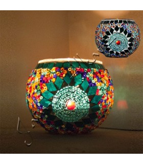 Candle Turco - Murano Vidro - Mosaico