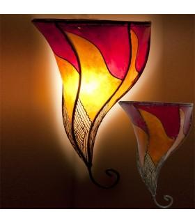 Aplique de Piel Pintado con Henna - Forja - Artesanal Colores