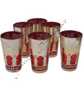 6 Tassen - Fenster Spiel Arab - verschiedene Farben