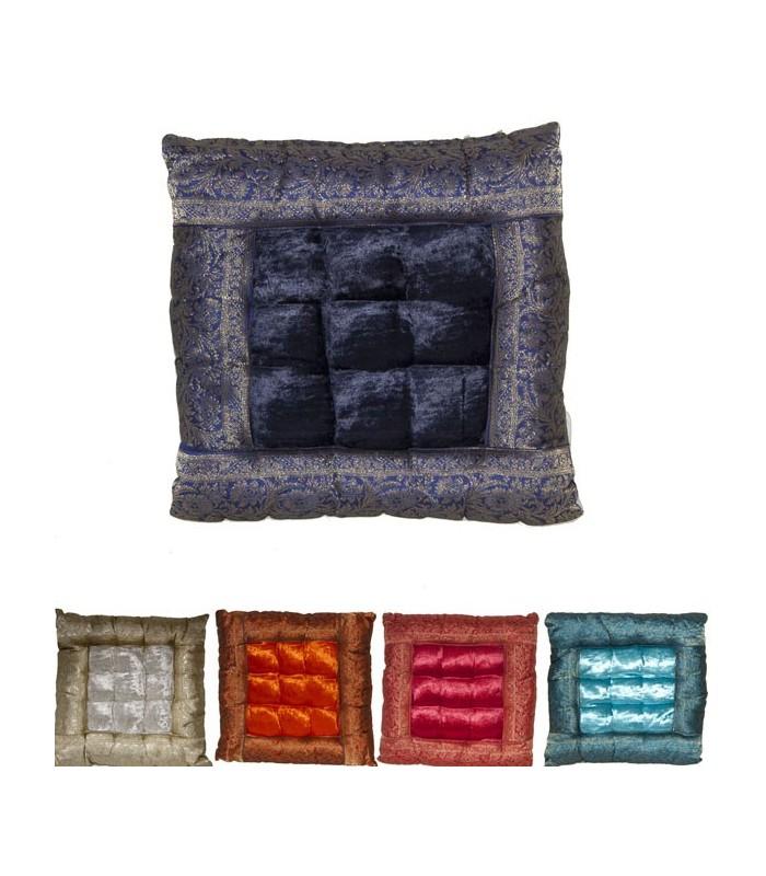 Yoga Cushion - Decorated Indian - Includes Stuffed - 37 cm