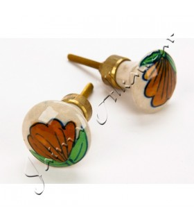 Knob design flower - 6 cm - hitch thread - very elegant