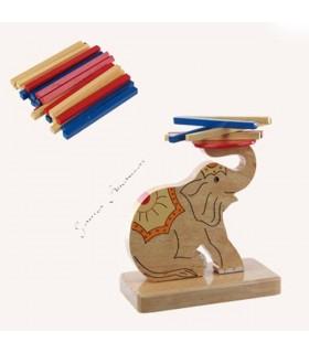 Juego Ingenio Elefante - Torre Palitos Multicolor - 14 cm