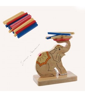 Play wit elephant - Tower multi color sticks - 14 cm