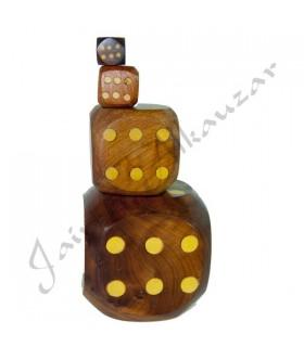 Dado Madera Artesanal - Raiz Tuya(madera sabina) - 4 Tamaños