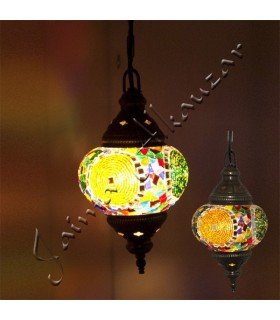 Lâmpadas Turco - Vidro Murano - Mosaico  - 13 cm