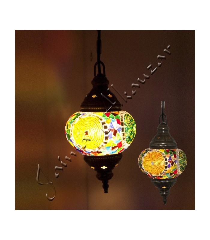 Lampara Turca - Cristal Murano - Mosaico - 13 cm