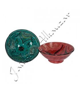 Ciotola in ceramica battuto - design arabo - dipinte a mano - 2 taglie