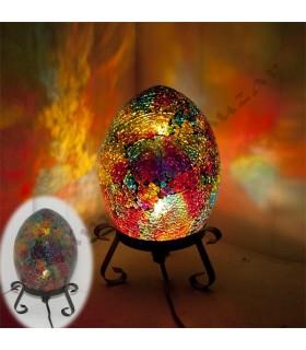 Lampara Huevo - Mosaico Craquelado - NOVEDAD