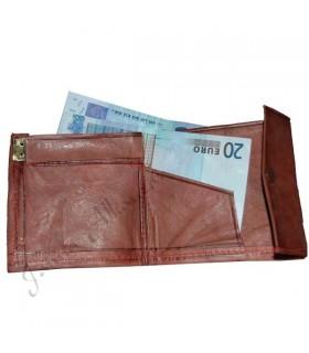 Quadrati cuoio - cuoio inciso - portafoglio multi-colore
