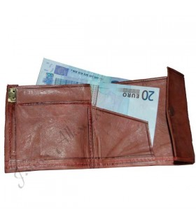 Square leather - engraved leather - wallet multi-color