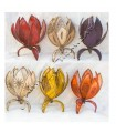 Lamp skin table flower - various colors - painting with Henna