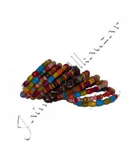 Brazalete Madera Muello - Semillas Multicolor