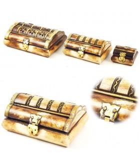 Caixa de osso - Velvet Forrado - 4 Tamanhos - Qualidade