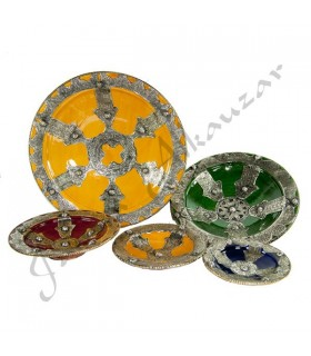 Ceramic plate hand Fatima - artisan - 5 sizes