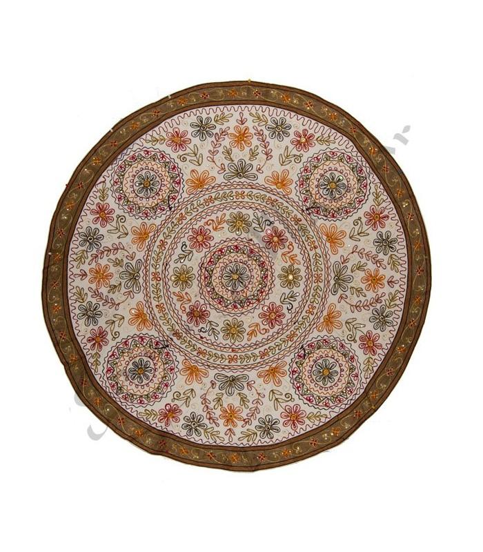 Tapete decoracion redondo dise o floral algodon publico for Tapetes orientales