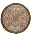 Rug round decoration - Floral Design - cotton