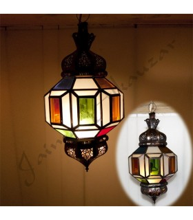 Lamp hanging with draft Arab - multicolored crystals