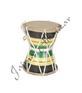 Double drum - small - 13 x 11 cm - decorated ethnic