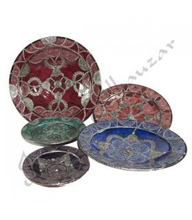 Talhados à mão placas de cerâmica - Alpaca decorados - 5 Tamanho
