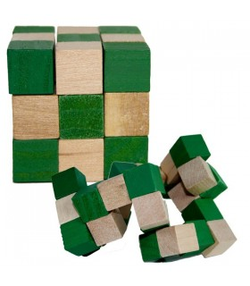 Game cube serpent Andalusia - wit - puzzle - 6 x 6 cm