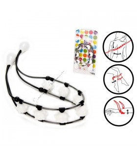 Back Massager 7 balls - White and black - 1m