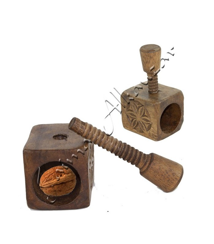 Engraved Wooden Nutcracker - Celtic Design - Screw Pressure
