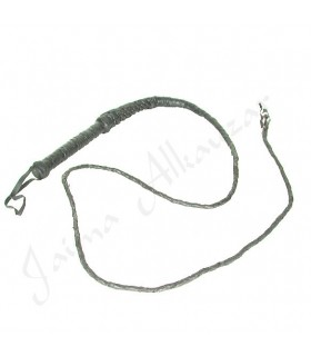 Látigo Cuero Negro Corto - Trenzado Artesano - 220 cm