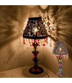 Lampara Mesita - Diseño Oriental - Resinas Multicolor
