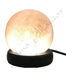 Mini lâmpada Himalayan Esfera Salt USB Rosa - Orange
