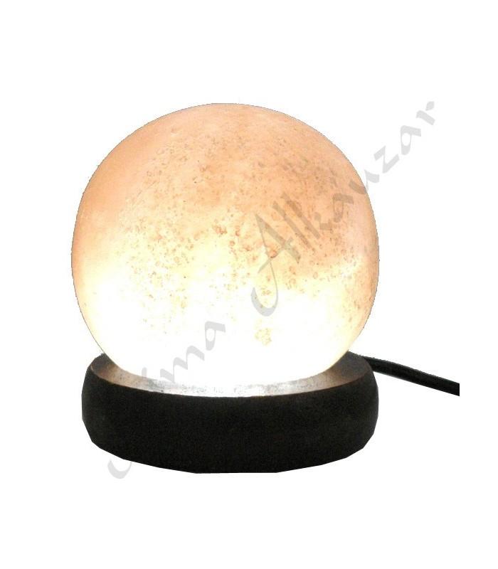 Mini USB Lamp Himalayan Esfera Rose Salt - Orange