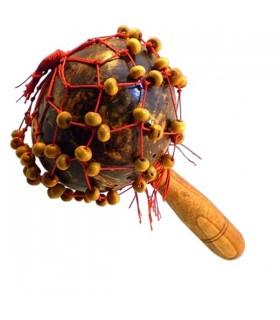 Maracas legno perline Coco - mano dipinta