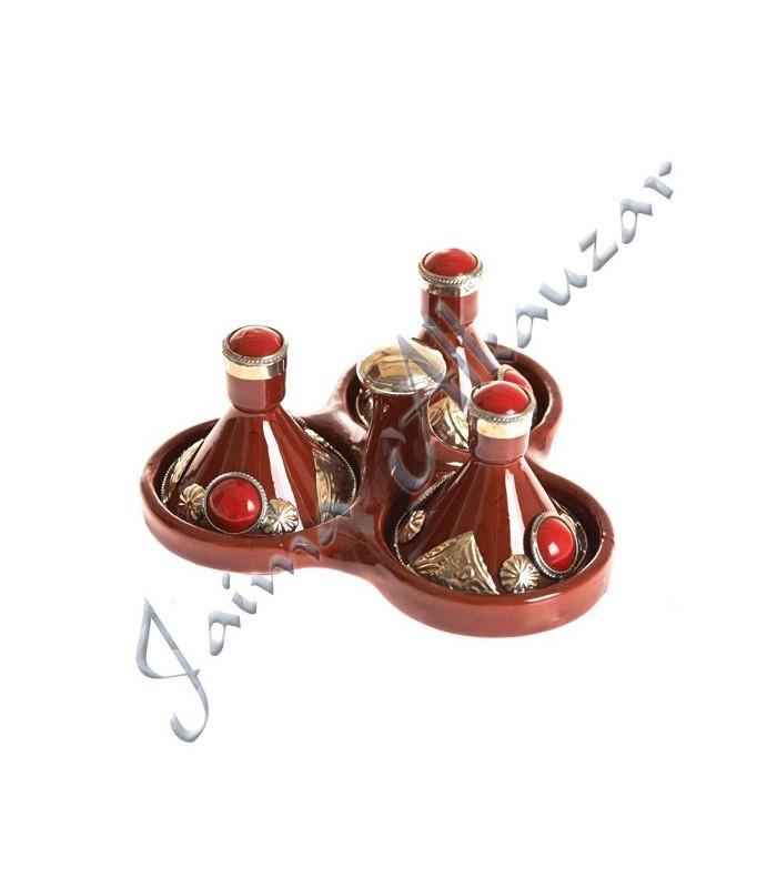 Especiero Tajin Mini Triple Decorado -Varios Colores-7.5 cm Alto