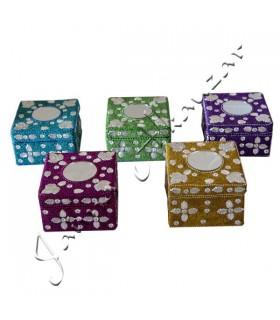 Helle Box mit Spiegel - mehrere Farben-floralen Motiven