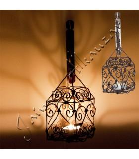 Forgiatura di lanterna per candela - include gancio - artigianalmente