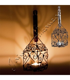 Lantern forging for candle - includes hook - handcrafted