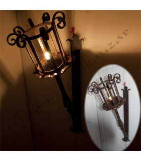 Torch Pendant - Wrought Iron -  70 x 80 cm  NEW