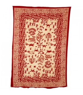 Inde-Cotton- village ouvert-Artisan-210 x 140 cm
