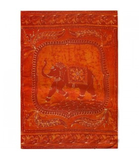 Fabric Feliz-Artesana cotton-India-elephant - 210 x 240 cm