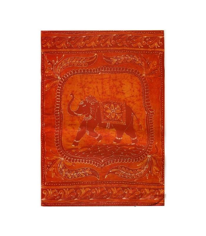 Tela Algodon-India-Elefante Feliz-Artesana-210 x 240 cm