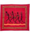 Fabric cotton-India - tribe 4 Hombres-Artesana - 210 x 245 cm
