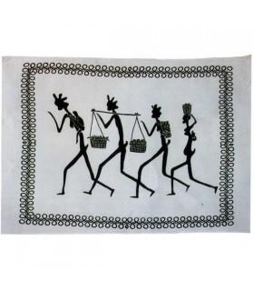 Tessuto cotone-India - tribù 4 Hombres-Quesería - 210 x 245 cm