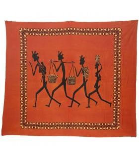 Inde-Cotton- 4 tribales homme-Artisan-210 x 245 cm