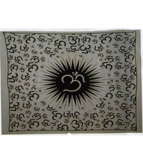 Fabric cotton-India - OM - 210 x 240 cm