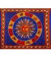 Tela Algodon-India- Sol con Zodiac-Artesana-210 x 140 cm