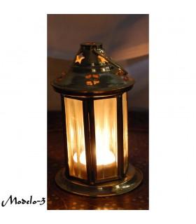 Messing Laterne Leuchtturm - tolle Qualität - Klarglas